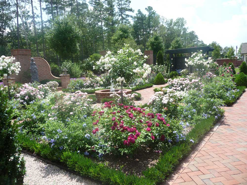 Paving company raleigh nc durham concrete pavers cary for Flower garden ponds
